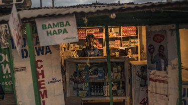 A pharmacy in Kibera, a sprawling impoverished community in Nairobi.