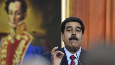 Nicolas Maduro, Venezuela's President, speaks during a televised press conference in Caracas on Friday.