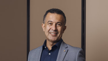 """Telstra's head of enterprise Michael Ebeid said if reselling NBN meets a customers needs then that's """"a good thing""""."""