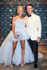 Roxy Jacenko and her husband, Oliver Curtis, at the Gold Dinner.
