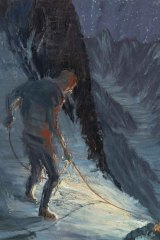 """In """"Night climbing"""", as in McLeod's other pieces in this series, rope serves as a through-line between works."""
