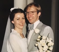 Fabian and Wendy on their wedding day.