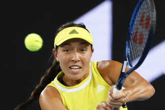 American Jessica Pegula wiped the floor with Aussie Sam Stosur in a straight sets victory.
