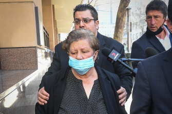 Zoran Pandilovski's brother and mother leave court on Thursday.