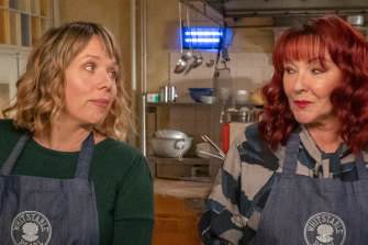 Kerry Godliman (left) is an ex-copper turned restaurateur and private eye in Whitstable Pearl.