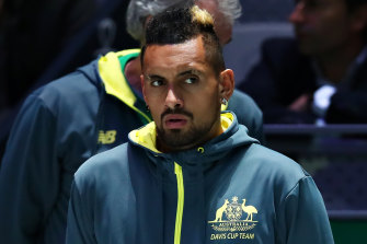 Nick Kyrgios was forced out of the Davis Cup with a recurring collarbone injury.