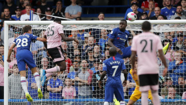 Wilfred Ndidi equalises for Leicester against Chelsea at Stamford Bridge on Sunday.