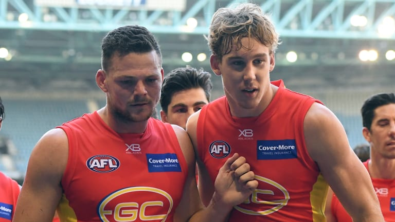 Steven May (left) and Tom Lynch both left the Suns.