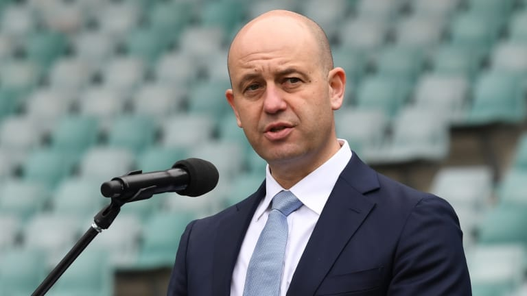 Rolling in it: NRL boss Todd Greenberg has spruiked the game's improving fortunes.