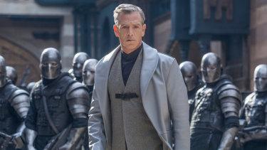 Ben Mendelsohn's character looks like he belongs in the Star Wars universe, not medieval England.