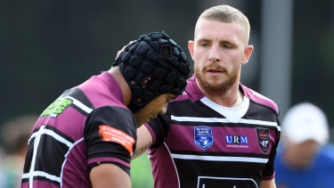 Scratched: Jackson Hastings made an ignominious exit from Manly.