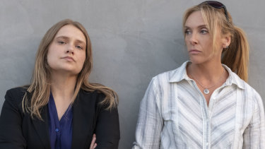 Unbelievable starring Merritt Weaver, left, and Toni Collette.