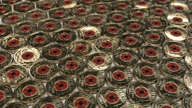 The new $2 coin marking the armistice of World War 1 and featuring a poppy.