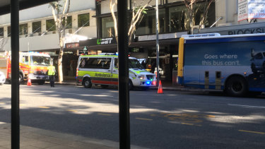 The pedestrian was hit in Brisbane's CBD during peak hour.