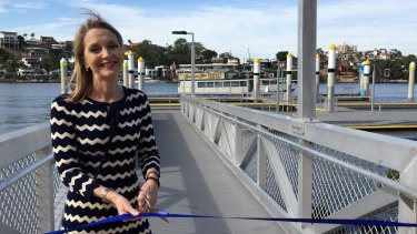 Brisbane City Council infrastructure chairwoman Amanda Cooper opens the New Farm River Hub on Tuesday.