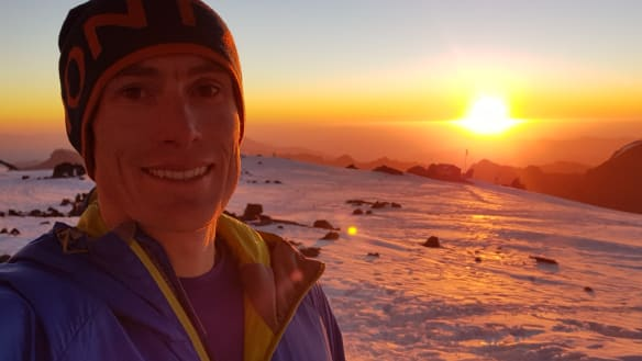 Three years after fracturing his neck, Australian breaks seven summits record