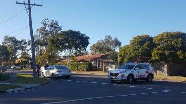 Residents heard 'shots' and screams on Goman Street at Sunnybank Hills.