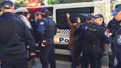 Seven Brisbane CBD climate change protesters arrested