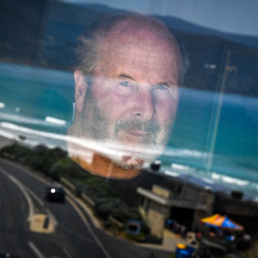 Howard Hughes looks out over Fairhaven beach, along the Great Ocean Road.