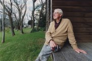 Arthur Boyd, who died in 1999, on his property Bundanon on the Shoalhaven River in NSW.