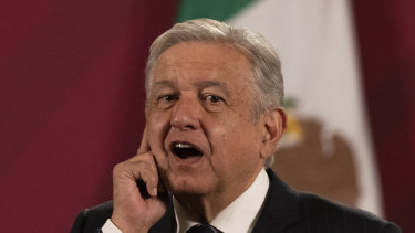 """Hugs not drugs"": Mexico President Andres Manuel Lopez Obrador."
