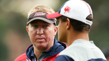 Trent Robinson backed Latrell Mitchell after the star centre was the target of vile online abuse during the 2019 season.