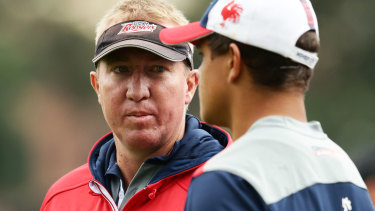 On the outer: Trent Robinson has said the Roosters are looking beyond Mitchell.