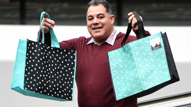 Mal Meninga calls on shoppers to bring their own bags when they go shopping.