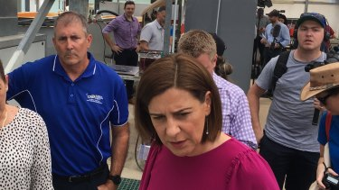 LNP Mundingburra candidate Glenn Doyle with LNP leader Deb Frecklington on Thursday.