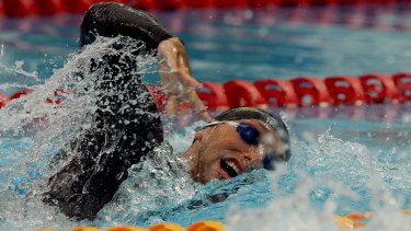 Ian Thorpe competes in the 2006 Commonwealth Games swimming trials on January 31, 2006.