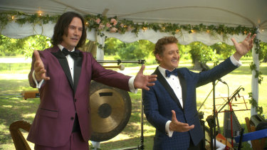 Bill and Ted have returned as middle-aged husbands and fathers suffering a shared mid-life crisis.