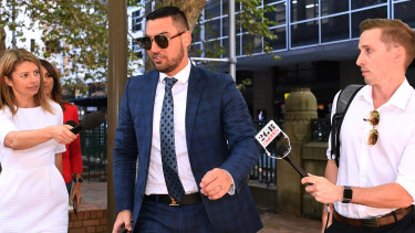 Salim Mehajer arrives at Sydney's Central Local Court on Wednesday morning.