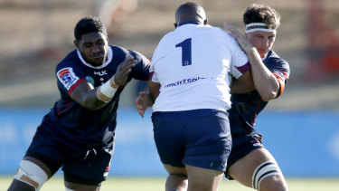 Melbourne Rebels recruit Isi Naisarani (pictured left) is tipped to fire.