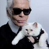 No one calls Karl Lagerfeld, pictured with his fave feline, Choupette, a 'crazy cat man'.