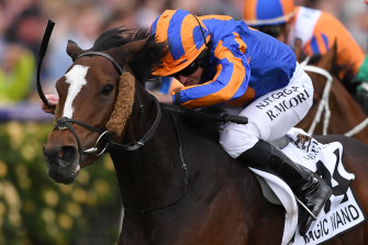 Magic Wand has been withdrawn from the Cox Plate.