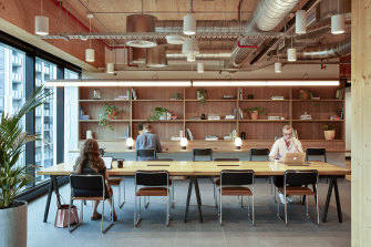 A WeWork office at the new King Street, Sydney. Post-pandemic changes will bring wholesale change to the workplace.
