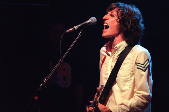 You Am I's Tim Rogers performs at The Metro in Sydney in 1996.