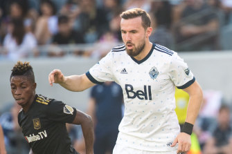 Jordon Mutch played alongside Bernie Ibini and under Carl Robinson at Vancouver Whitecaps in 2018.