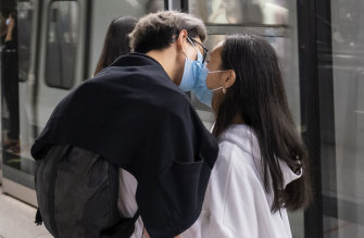 Coronavirus is challenging people in all kinds of new ways, especially when it comes to kissing.