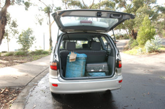 Heroin in the back of a rented Toyota Tarago at Boggaley Creek on the Great Ocean Road in April 2003.