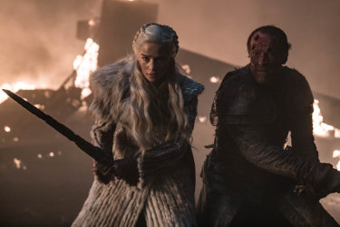 Ser Jorah comes to Dany's rescue.
