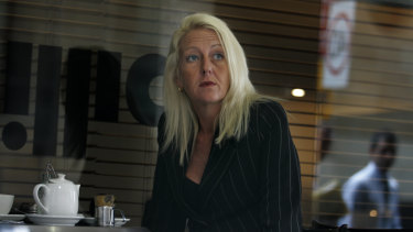 Nicola Gobbo the morning after her BMW was torched, in April 2008.