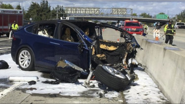 38-year-old Walter Huang died after his Tesla crashed into a concrete barrier.