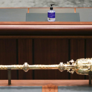 Sanitised House: The ancient authority of the mace vies with the challenge of the virus.