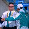 Justin Langer was visibly furious with match referee David Boon.