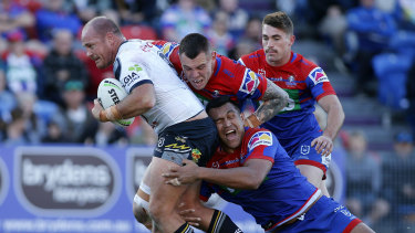 North Queensland found few in-roads in a tough afternoon in Newcastle.