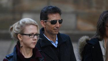 Serge Benhayon outside the NSW Supreme Court on Tuesday.