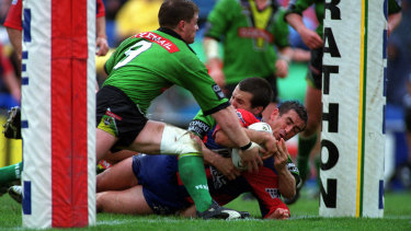 Safe place: Andrew Johns had a knack for shutting out the external noise on the field.