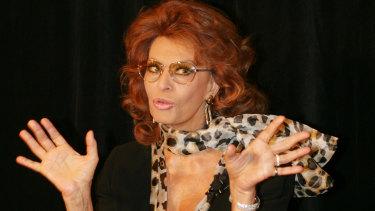 Still gorgeous: Sophia Loren.