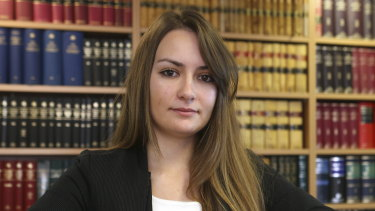 Erin Sellars is a lawyer who works exclusively on cases involving former NSW police officers.